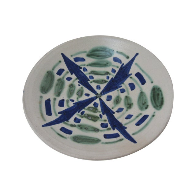 Blue & Green Studio Pottery Catchall - Image 1 of 4
