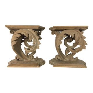 19th C. Italian Carved Fragments - A Pair
