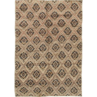 Vintage Moroccan Hand Knotted Rug - 6'4 X 9'4