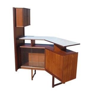Mid-Century Teak Bar Cabinet