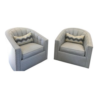 Contemporary Gray Swivel Chair