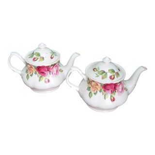 English Rose Teapots - A Pair