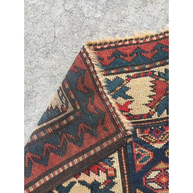 "Antique Russian Kazak Runner - 3'4"" X 7' - Image 6 of 7"