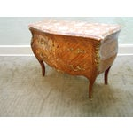 Image of Louis XV Marquetry Inlaid Marble Top Commode Chest
