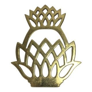 1976 Williamsburg Brass Pineapple Trivet