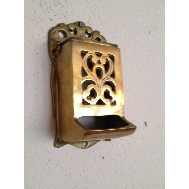 Vintage Brass Match Holder - Image 3 of 4