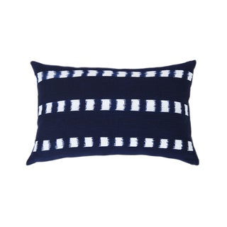 Handwoven Guatemalan Striped Indigo Pillow