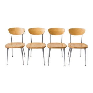Set of Four Shelby Williams Gazelle-Leg Dining Chairs
