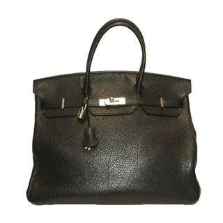 Hermes 40 cm Black Togo Birkin Bag