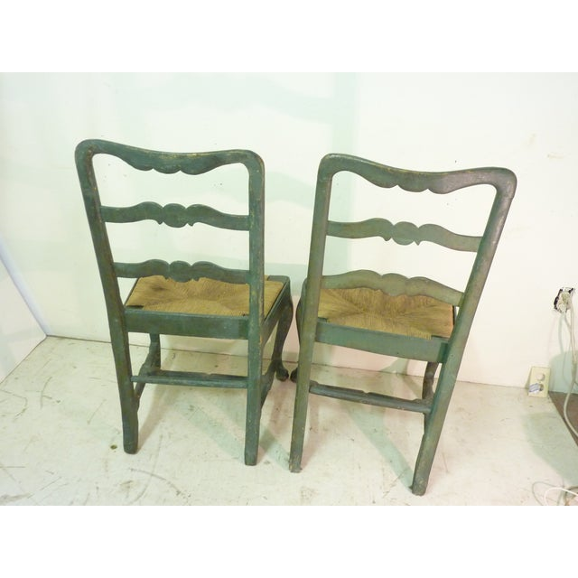 18th C. French Painted Chairs - A Pair - Image 6 of 6