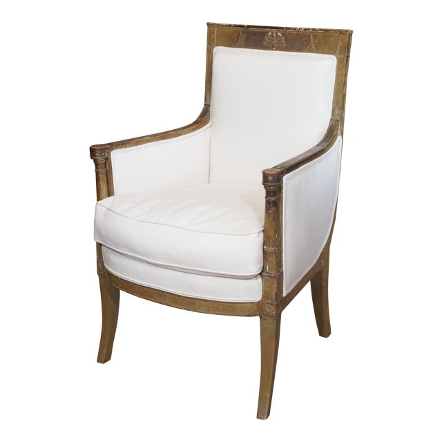 Late 18th Century French Empire Bergere - Image 1 of 9