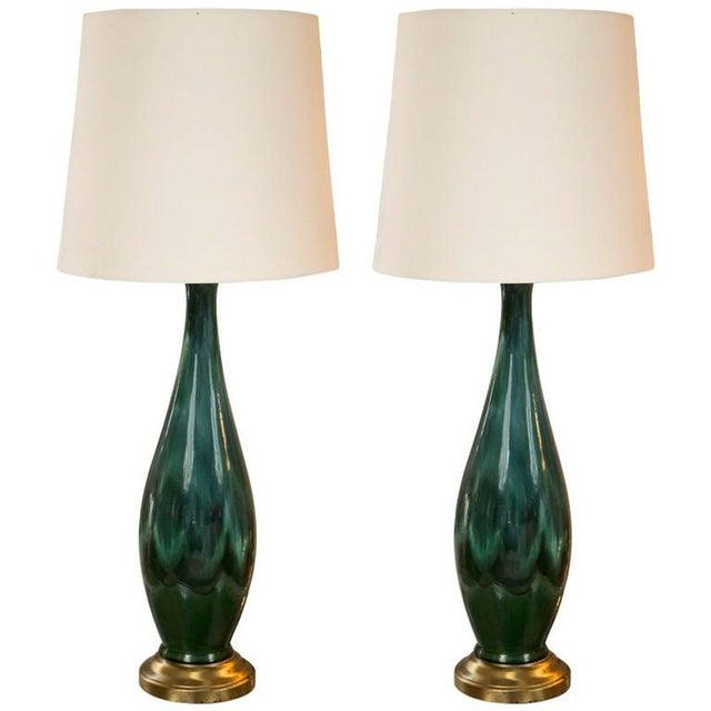 Mid-Century Ceramic Lamps - a Pair - Image 1 of 5