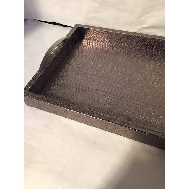 Bronze Snakeskin Handled Tray - Image 5 of 7