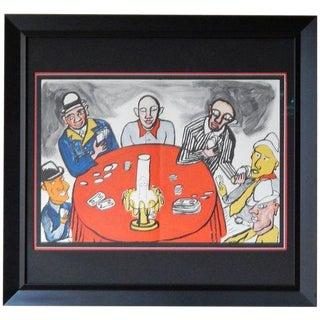 Alexander Calder 6 Card Players Lithograph