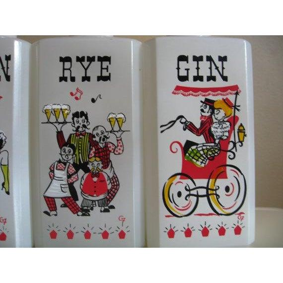 Vintage Milk Glass Liquor Bottles - 4 - Image 5 of 6