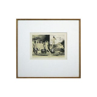Framed Garhart Surrealist Lithograph