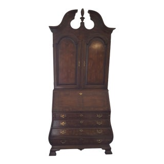 Drexel Heritage Heirloom Chippendale Bombe Secretary