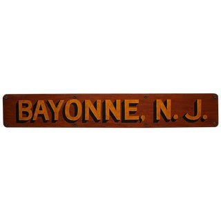 Bayonne, NJ Boat Plaque