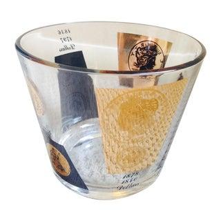 1960's Regency Bar Ware Black Gold Ice Bucket