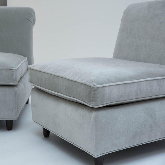 Mid-Century Slipper Chairs - A Pair - Image 8 of 10