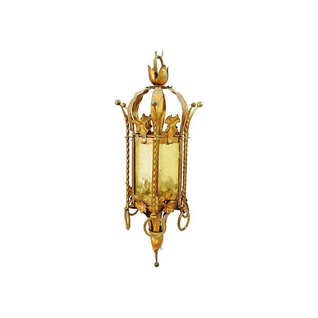 1930s Gothic Style Pendant Chandelier Swag Light