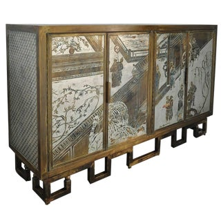 Exceptional, Signed Philip and Kelvin LaVerne Four-Door Cabinet