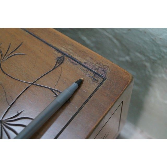 Kittinger Thistle Faux Bamboo End Tables - Pair - Image 8 of 10
