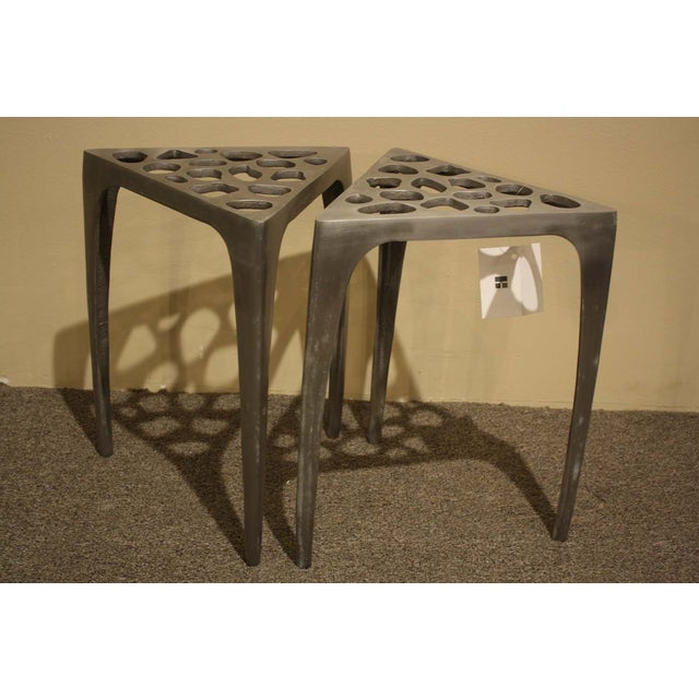 Image of Freddie Metal Accent Tables - a Pair
