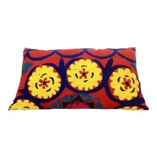 Vintage Lumbar Suzani/Uzbek Pillow