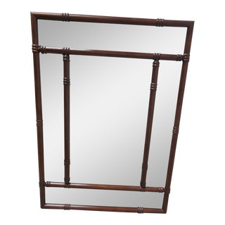 Bombay Company Mahogany Faux Bamboo Wall Mirror
