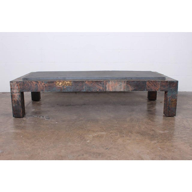 Large Patchwork Coffee Table by Paul Evans - Image 3 of 10