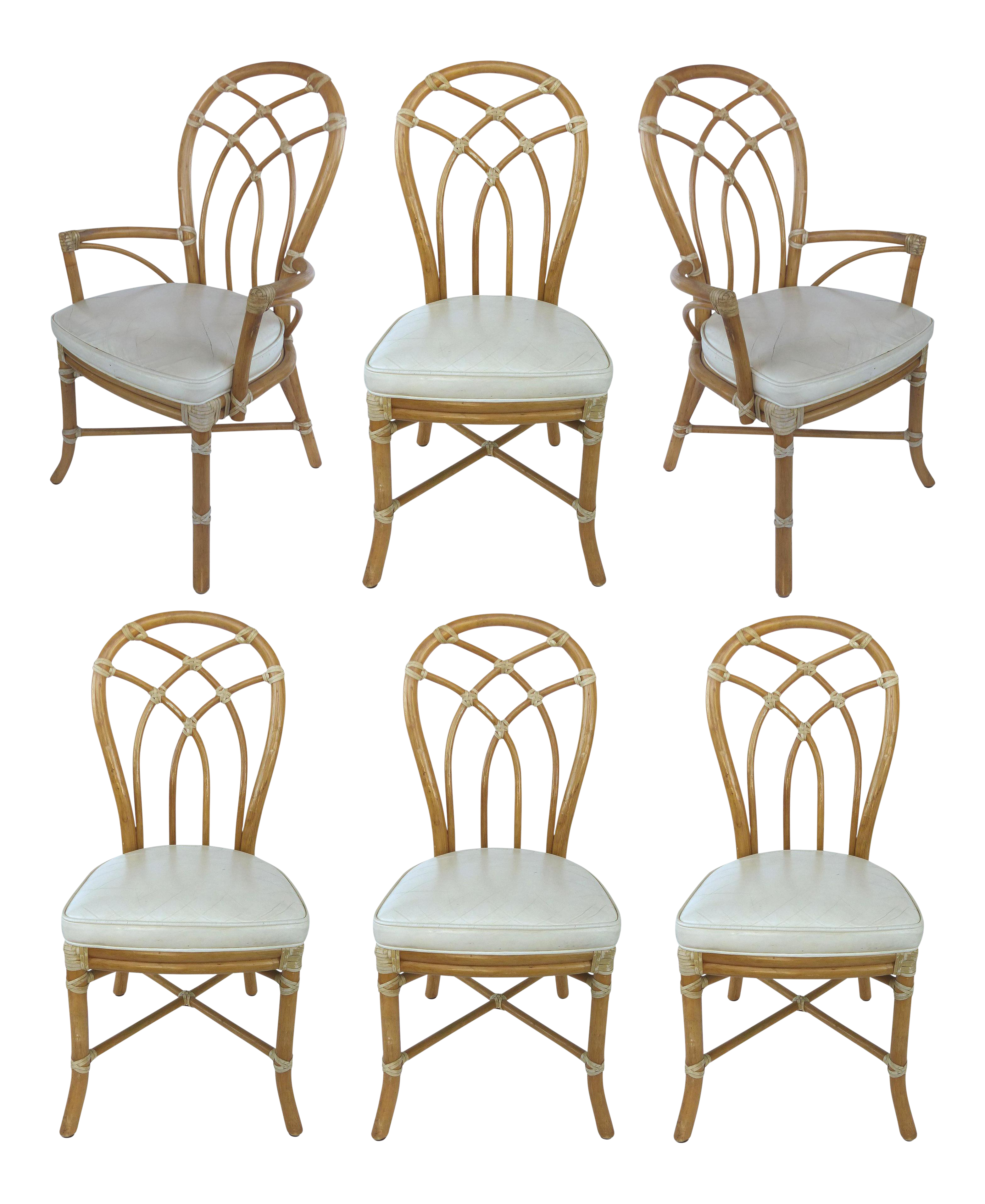 McGuire Rattan Dining Chairs   Set Of 6