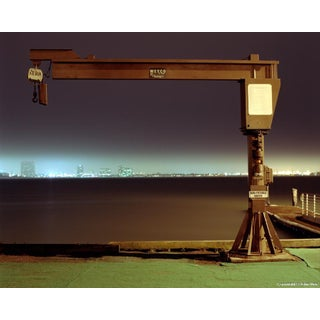 """Large Boat Winch"" - Night Photograph by John Vias"