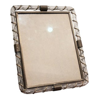 Glass & Brass Photo Frame in the Style of Venini