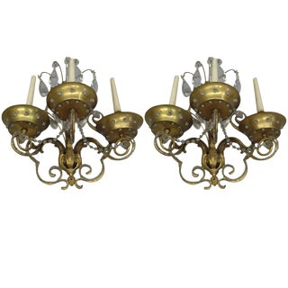 Important Pair of Modern Neoclassical Wall Sconces by MAISON JANSEN