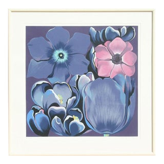 "1980 ""Four Flowers"" Print by Lowell Blair Nesbitt"