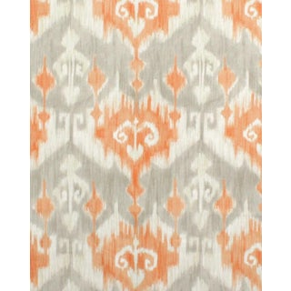Marlena Ikat Orange Fabric - 10 Yards