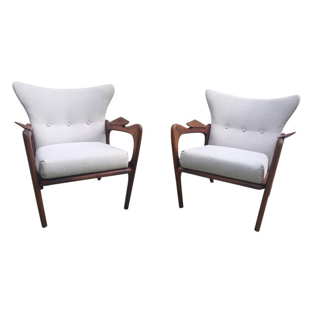 Adrian Pearsall Sculptural Lounge Chairs - Pair - Image 1 of 8