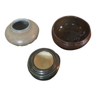 Handmade Pottery Vessels - Set of 3