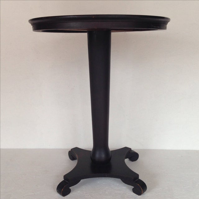 Black Empire-Style Pedestal Table - Image 2 of 6