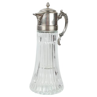Crystal Decanter W/ Silver Top
