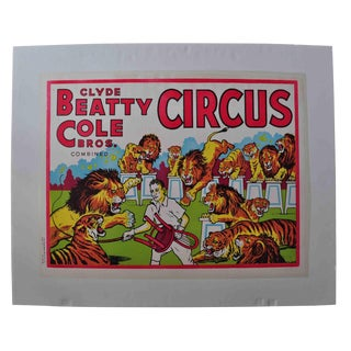 Clyde Beatty-Cole Bros. Circus Poster #2