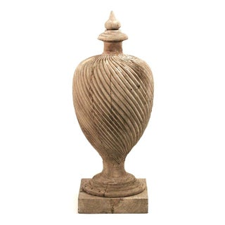 Wooden Urn Architectural Element