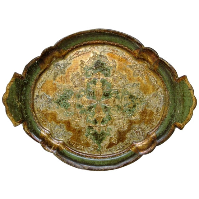 Florentine Gesso And Wood Tray - Image 1 of 8