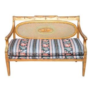 Neoclassical Gilt Settee