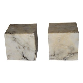 Vintage Italian Marble Bookends - A Pair