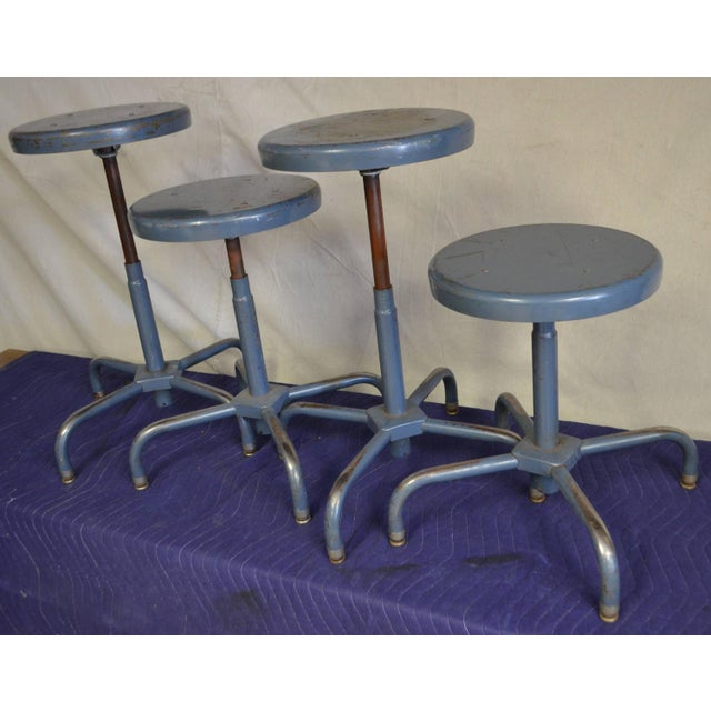 Industrial Adjusting Stools - S/4 - 32 Available - Image 2 of 3