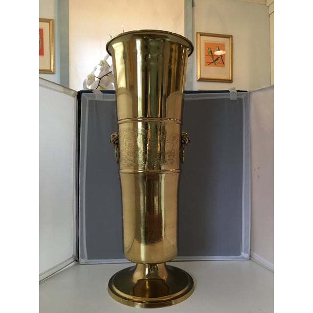 Brass Chinoiserie Umbrella Stand - Image 7 of 7