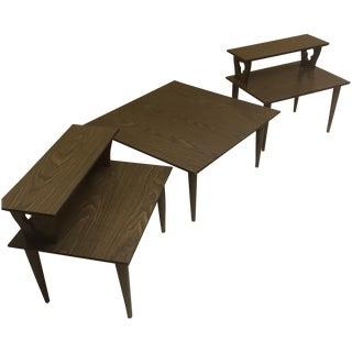 Mid Century Modern Side & Coffee Table Set