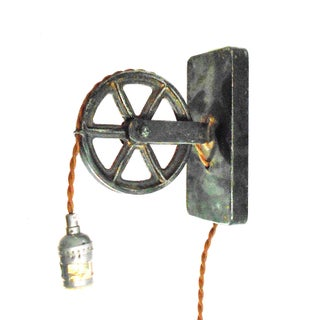 Industrial Factory Wheel Sconce Lamp – Large Size